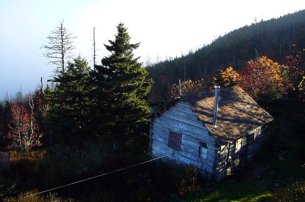 Hiking through the Smokey Mountains in Tennessee on the way to the Mt. Leconte Lodge. One of the cabins at the top of the mountain.