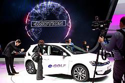 10.09.2013, Messegelaende, Frankfurt, GER, IAA 2013, im Bild Volkswagen Halle, Volkswagen e-Golf // during the IAA 2013 at the Messegelaende in Frankfurt, Germany on 2013/09/10. EXPA Pictures © 2013, PhotoCredit: EXPA/ Eibner/ Global<br /> <br /> ***** ATTENTION - AUSTRIA ONLY *****