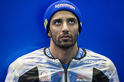 November 16, 2018 - Valencia, Valencia, Spain - Circuit de Valencia, Valencia, Spain; MotoGP of Valencia, Friday free practice;  Andrea Iannone (Team Suzuki Ecstar) on pit (Credit Image: © Giuseppe Piazzolla/Pacific Press via ZUMA Wire)