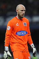 Dagenham & Redbridge goalkeeper Mark Cousins looks on. The Emirates FA cup, 3rd round match, Everton v Dagenham & Redbridge at Goodison Park in Liverpool on Saturday 9th January 2016.<br /> pic by Chris Stading, Andrew Orchard sports photography.