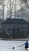 Hazenwinkel, BELGIUM,  W1X, Katherine GRAINGER moves away from the boating pontoon, at the GB Rowing Senior Trials, on Mon 16.04.2007  [Credit, Peter Spurrier/Intersport-images]   [Mandatory Credit, Peter Spurier/ Intersport Images]. , Rowing Course, Bloso, Hazewinkel. BELGUIM