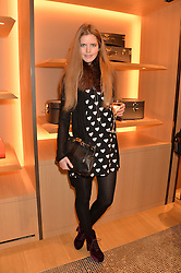 KATIE READMAN at the opening party for Moynat's new Maison de Vente in Mayfair at 112 Mount Street, London W1 on 12th March 2014.