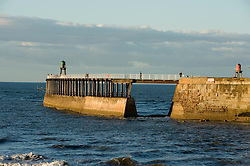 Whitby harbor west pier  North Yorkshire.September 2010 .Images © Paul David Drabble