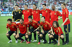 Spanish team before the UEFA EURO 2008 Quarter-Final soccer match between Spain and Italy at Ernst-Happel Stadium, on June 22,2008, in Wien, Austria. Spain won after penalty shots 4:2. (Photo by Vid Ponikvar / Sportal Images)