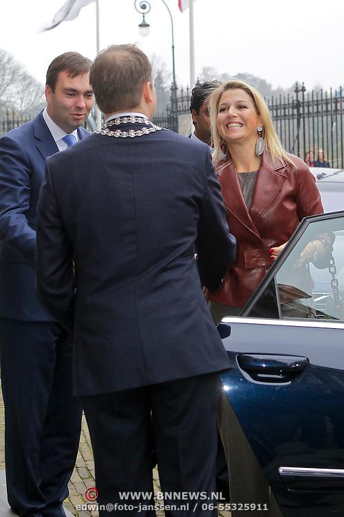 NLD/Utrecht/20111110- Prinses Maxima slaat Eerste Week van het Geld Munt in Utrecht,