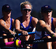Sydney, AUSTRALIA, GBR W8+ Alex BEEVER, at the 2000 Olympic Regatta, Penrith Lakes. [Photo Peter Spurrier/Intersport Images] . 2000 Olympic Regatta Sydney International Regatta Centre (SIRC) 2000 Olympic Rowing Regatta00085138.tif