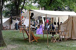 21 July 2013:   10th Illinois Volunteer Calvary Regiment encampment of Civil War Days at Ames Library on the campus of Illinois Wesleyan University.