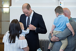 © Licensed to London News Pictures . 14/09/2017 . Liverpool , UK . The Duke of Cambridge , Prince William , meets families during a visit to Life Rooms in Walton . Life Rooms provides community support to help people recover from mental health issues . Photo credit : Joel Goodman/LNP