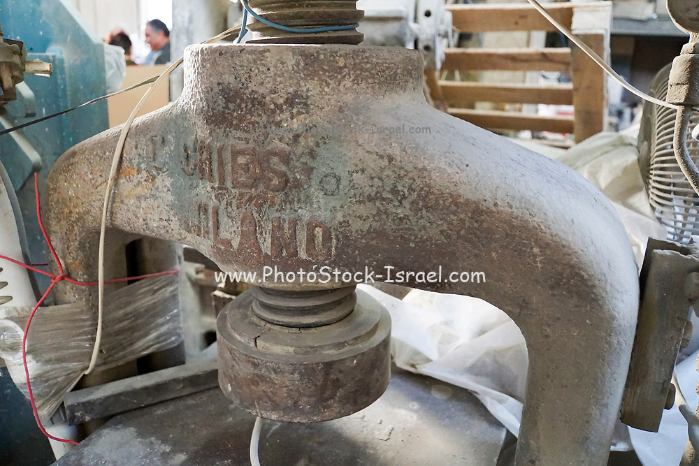 Old style hand operated manual iron screw press