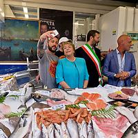 Il presidente della Repubblica del Cile Michelle Bachelet in visita  a Roma.
