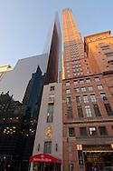 Carnegie Hall Tower Arcihitect,  Cesar Pelli and Metropolitan Tower Architect: Schuman, Lichtenstein, Claman & Efron and Russian tea room, West 57th Street NYC, New York, postmodern