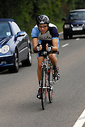 UK, Chelmsford, 28 June 2009: HAMISH HORE (J) MALDON & DISTRICT.C.C. completed the E9 / 25 course in 1 hour 5 mins 28 secs. Images from the Chelmer Cycle Club's Open Time Trial Event on the E9 / 25 course. Photo by Peter Horrell / http://peterhorrell.com .