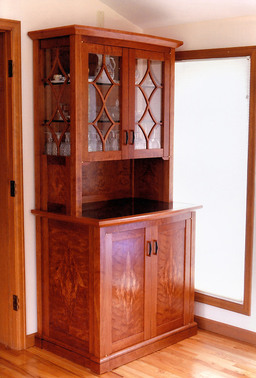cherry, ebony and glass<br /> this piece designed and built for clients in Boulder, Co.