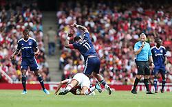 Memphis Depay of Lyon  fouls Matteo Guendouzi of Arsenal - Mandatory by-line: Arron Gent/JMP - 28/07/2019 - FOOTBALL - Emirates Stadium - London, England - Arsenal v Olympique Lyonnais - Emirates Cup