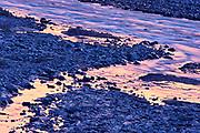Dezadeash River detail at sunrise<br />Haines Junction<br />Yukon<br />Canada