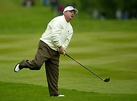 Photograph: Scott Heavey<br />Volvo PGA Championship At Wentworth Club. 23/05/2003.<br />Ian Woosnam watches a shot go wide on the 17th.