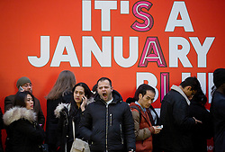 © Licensed to London News Pictures. 26/12/2015. London, UK. Shoppers queue outside Selfridges, Oxford Street, central London, on Boxing Day sales. Photo credit : LNP