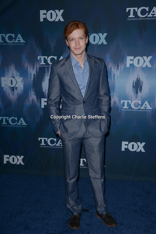 CAMERON MONAGHAN at the Fox Winter TCA 2017 All-Star Party at the Langham Hotel in Pasadena, California