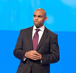Marvin Rees, Labour candidate for Bristol during a Q & A to the Labour Party Conference in Manchester, October 3, 2012. Photo by Elliott Franks / i-Images.