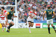 Japan's Centre Male Sau during the Rugby World Cup Pool B match between South Africa and Japan at the Community Stadium, Brighton and Hove, England on 19 September 2015. Photo by Phil Duncan.