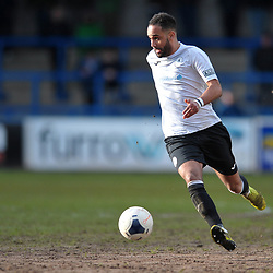 TELFORD COPYRIGHT MIKE SHERIDAN Brendon Daniels of Telford  during the Vanarama Conference North fixture between AFC Telford United and Kettering at The New Bucks Head on Saturday, March 14, 2020.<br /> <br /> Picture credit: Mike Sheridan/Ultrapress<br /> <br /> MS201920-050