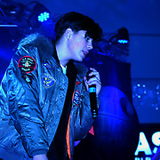 Angels N' Bandits preforms at X-Factor's Sam Lavery to Switch on Christmas Lights at Stratford Centre inside Stratford Shopping Centre, 26th November 2016, London,UK. Photo by See Li