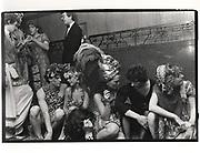 Hugh Grant, Marina Killery, Lulu Guinness, Lord Neidpath, Piers Gaveston Ball. Park Lane Hotel. London. 1983