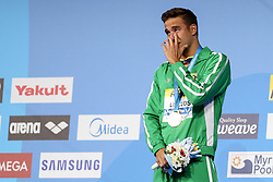 July 26, 2017 - Budapest, Hungary - Chad Le Clos (RSA) on podium after wins the Gold Medal on Women's 200 m Freestyle Final during the 17th FINA World Championships, at Duna Arena, in Budapest, Hungary, Day 13, on July 26th, 2017 (Photo by Foto Olimpik/NurPhoto) (Credit Image: © Foto Olimpik/NurPhoto via ZUMA Press)