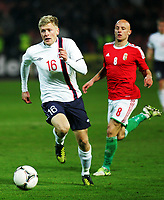 Fotball 14. november 2012 , Ungarn - Norge 0-2 <br /> Jonathan Parr (L) Norway and Jozsef Varga(r) Hungary <br /> Norway only