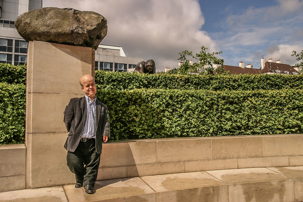 Dr Tom Shakespeare photographed outside the British Library, London in 2006.