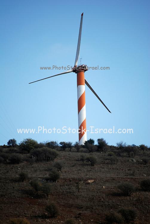 Israel, Golan Heights, Wind generator
