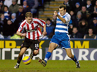 Photo: Gareth Davies.<br />Reading v Sheffield United. The Barclays Premiership. 20/01/2007.<br />Reading's Glen Little (R) tries to stop the run of Sheffield United's Chris Armstrong (L).