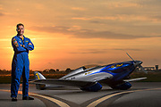 Thom Richard and his hand made, one-of-a-kind, 3M1C1R F1 class race plane named Hot Stuff.