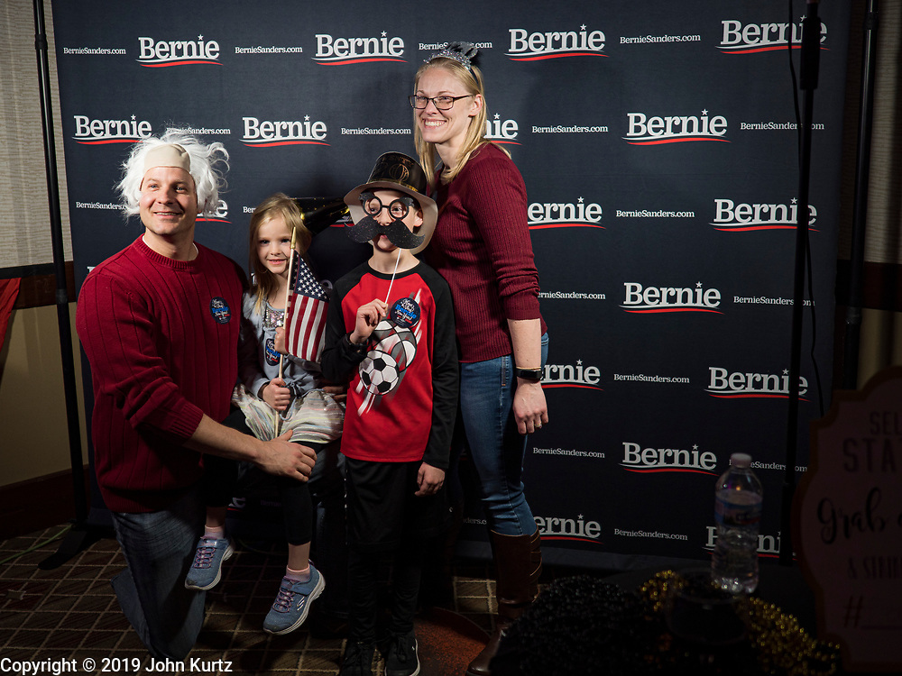 31 DECEMBER 2019 - DES MOINES, IOWA: at the Marriott Hotel Downtown in Des Moines. Sen. Sanders is in Iowa campaigning to be the Democratic presidential nominee in 2020. Iowa hosts the first selection event of the presidential election cycle. The Iowa Caucuses are Feb. 3, 2020.             PHOTO BY JACK KURTZ