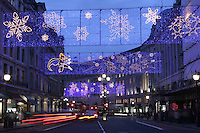 christmas decorations on regent street 2004