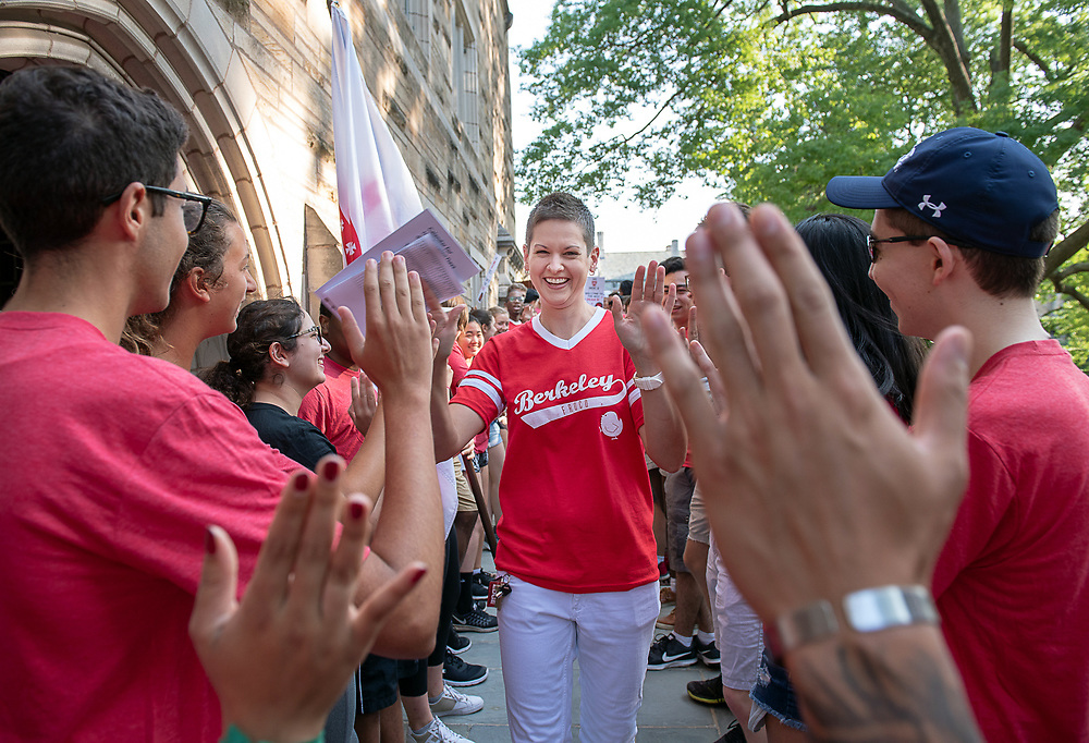 Photography ©Mara Lavitt<br /> August 24, 2018<br /> <br /> First-year-student move-in day at Yale.