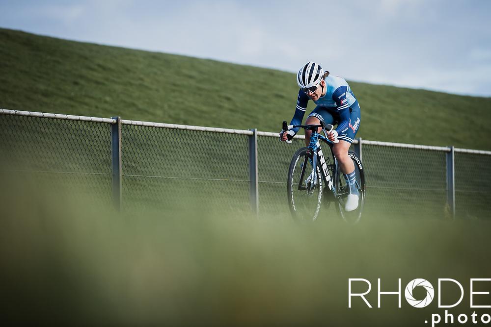 Lauretta Hanson (AUS/Trek Segafredo)<br /> <br /> <br /> Healthy Ageing Tour (NED) 2021<br /> UCI Women Elite 2.1<br /> Stage 2 : Individual Time Trial (ITT) – Lauwersoog – Het Hoogeland 14.4km<br /> <br /> ©RhodePhoto