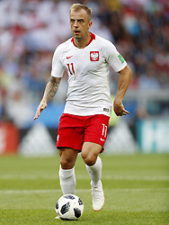 Kamil Grosicki of Poland during the 2018 FIFA World Cup Russia group H match between Poland and Senegal at the Otkrytiye Arena on June 19, 2018 in Moscow, Russia