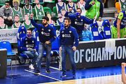 Gianmarco Pozzecco - Edoardo Casalone - Giorgio Gerosa<br /> Banco di Sardegna Dinamo Sassari - Iberostar Tenerife<br /> Basketball Champios League 2020/2021<br /> Regular Season - Group A - Game 2<br /> Sassari 04/11/2020<br /> Foto Ciamillo-Castoria