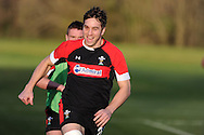 Ryan Jones in action.Wales rugby team training at the Vale, Hensol, near Cardiff on Thursday 29th November 2012. the team are preparing for their final Autumn international match against Australia this Saturday. pic by Andrew Orchard, Andrew Orchard sports photography,