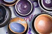 Clay Planet sells bowls created by local artists during Night of 1,000 Bowls at Relay for Life at the Milpitas Sports Center on June 23, 2012.  Proceeds from sold pottery go to the American Cancer Society. Photo by Stan Olszewski/SOSKIphoto.