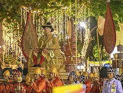 The King is passing at the Democracy Monument, Coronation of the king of Thailand,Thaïlande, Rama X, His Majesty King Maha Vajiralongkorn Bodindradebayavarangkun, in Bangkok, Thailand, on May 05, 2019. Photo by Loic Baratoux /ABACAPRESS.COM