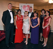 NO FEE PICTURES<br /> 9/11/14 Brendan and Doreen Healy, Dr Orla Franklin, Glen and Eileen Curruthers, Margret Rogers and Lorna Stone at the Tiny Hearts fundraising ball in aid of Heart Children Ireland at Darver Castle in County Louth. Picture:Arthur Carron