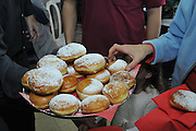Sufganiyah a traditional Jewish Doughnut eaten during Channukah