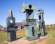 'The Family of Man' ,1970 Bronze, by Barbara Hepworth, Snape Maltings, Suffolk, England