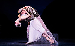 La Bayadere <br /> A ballet in three acts <br /> Choreography by Natalia Makarova <br /> After Marius Petipa <br /> The Royal Ballet <br /> At The Royal Opera House, Covent Garden, London, Great Britain <br /> General Rehearsal <br /> 30th October 2018 <br /> <br /> STRICT EMBARGO ON PICTURES UNTIL 2230HRS ON THURSDAY 1ST NOVEMBER 2018 <br /> <br /> Marianela Nunez as Nikiya <br /> A Bayadere and a temple dancer <br /> <br /> Vadim Muntagirov as Solor <br /> A warrior <br /> <br /> Photograph by Elliott Franks Royal Ballet's Live Cinema Season - La Bayadere is being screened in cinemas around the world on Tuesday 13th November 2018 <br /> --------------------------------------------------------------------