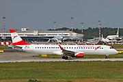 OE-LWD Austrian Airlines Embraer ERJ-195LR (Embraer 190-195) at Malpensa (MXP / LIMC), Milan, Italy