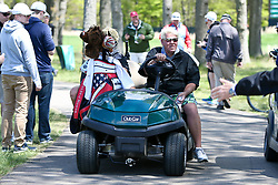 May 15, 2019 - Bethpage, New York, United States - John Daly (C) on the 8th green during a practice round at the 101st PGA Championship at Bethpage Black. (Credit Image: © Debby Wong/ZUMA Wire)