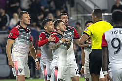 May 26, 2018 - Los Angeles, California, U.S - DC United's whole team had an issue with the referee during the second half of the match between Los Angeles Football Club and DC United at the Banc of California Stadium on Saturday, May 26, 2018. (Credit Image: © Michael Goulding via ZUMA Wire)