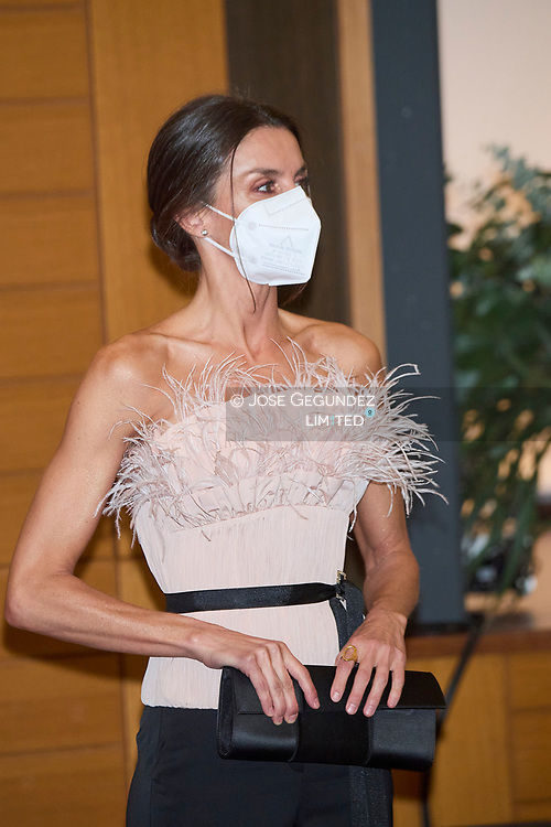 Queen Letizia of Spain attend  Official Dinner hosted by the Co-Princes of Andorra during 2 day State visit to Principality of Andorra at Andorra Park Hotel  on March 25, 2021 in Andorra la Vella, Principality of Andorra